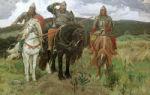 Эскиз «богатырь», васнецов, 1870
