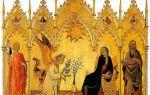 Мадонна с младенцем и ангелами (мадонна оньисанти), джотто — описание