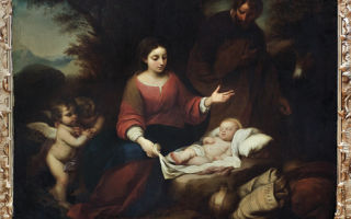 Мадонна с четками, бартоломе эстебан мурильо — описание картины