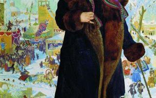 Портрет шаляпина, 1922, кустодиев — описание картины