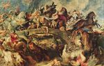 Битва греков с амазонками, питер пауль рубенс — описание