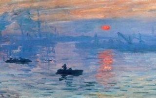 Восход солнца. впечатление, клод моне — описание картины