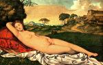«спящая венера», джорджоне — описание картины
