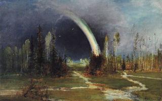 Радуга — айвазовский, 1873, описание картины