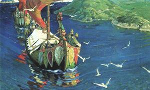 «заморские гости», николай константинович рерих — описание картины