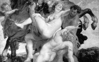 Картина «похищение дочерей левкиппа», рубенс