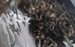 Картина «переход суворова через альпы», суриков