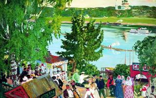 Волга. радуга, кустодиев, 1925