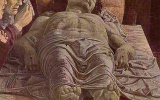 Мертвый христос, андреа мантенья, 1490