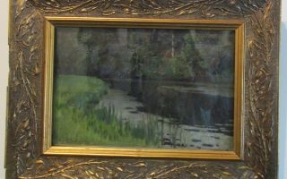 Абрамцево. летний пейзаж, репин — описание картины