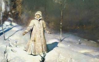Картина «снегурочка», михаил врубель, 1890