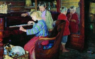 «день рождения учительницы», богданов-бельский — описание картины