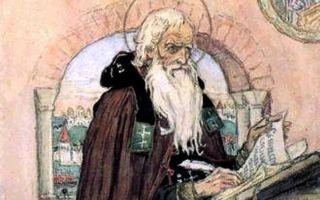 Картина «нестор-летописец», васнецов  — описание
