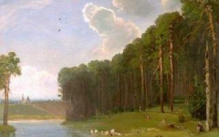 Камень в лесу у «разлива», саврасов, 1849