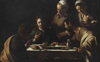 Ужин в эммаусе, микеланджело караваджо, 1601