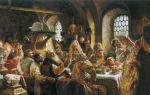Картина «боярский свадебный пир», маковский — описание
