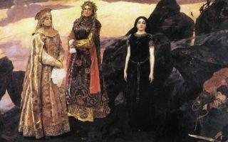 Описание картины «три царевны подземного царства», васнецов, 1881