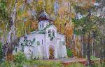 Картина «осень в абрамцеве», поленов — описание
