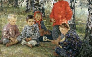 Богданов-бельский, «виртуоз» — описание картины
