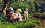 «в жаркий день», владимир егорович маковский — описание картины