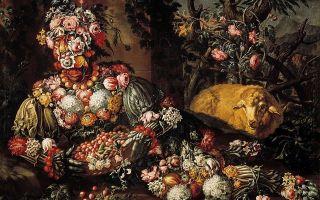«четыре сезона», джузеппе арчимбольдо — описание картины