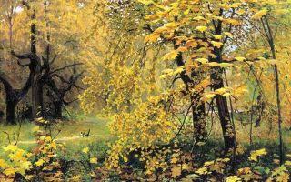 Картина «осенний пейзаж», левитан