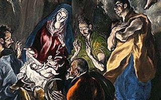 «святой мартин и нищий», эль греко — описание картины