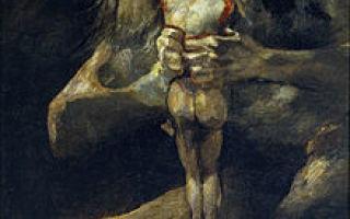 Сатурн, пожирающий своего сына, франсиско де гойя — описание картины