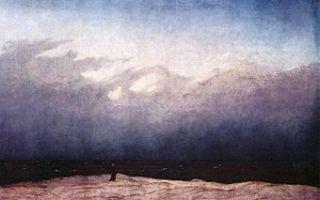 «монах у моря», каспар давид фридрих — описание картины