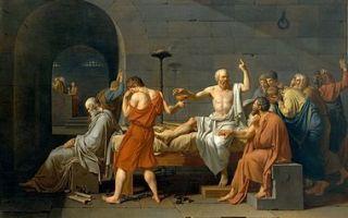 Смерть сократа, жак луи давид, 1787
