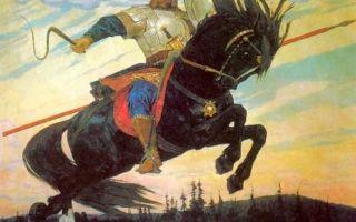 Богатырский галоп, васнецов — описание картины