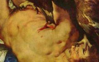 Прометей прикованный, рубенс — описание картины