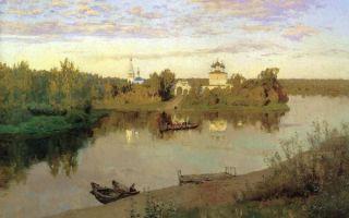 Картина «вечерний звон», левитан, 1892