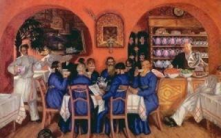 Купчиха за чаем, 1918, кустодиев — описание картины