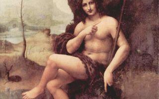 Святой иоанн креститель, леонардо да винчи — описание картины