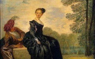 Вывеска лавки жерсена, антуан ватто — описание картины