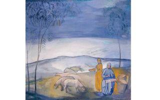 Вечер в степи, павел варфоломеевич кузнецов, 1912