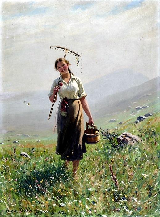 «Летний день», Ханс Даль — описание картины