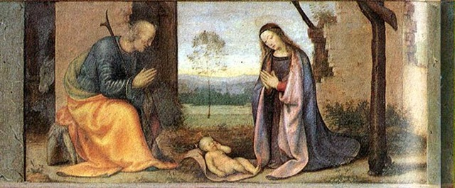 «Рождество», Мазаччо — описание картины