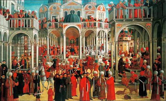 Блаженный Джустиниани с двумя канониками и святыми, Перденоне, 1532