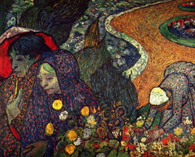 Арльские дамы (Воспоминание о саде в Эттене), Ван Гог, 1888