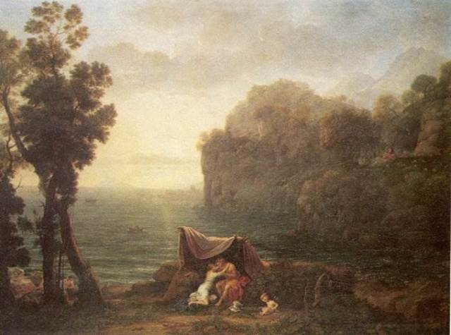 Пейзаж с Ацисом и Галатеей, Клод Лоррен, 1657