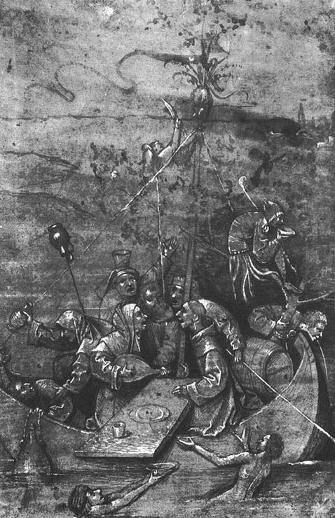 Картина «Корабль дураков», Иероним Босх — описание