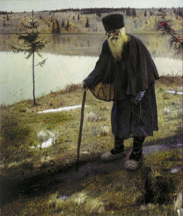 «Пустынник», Михаил Васильевич Нестеров — описание картины