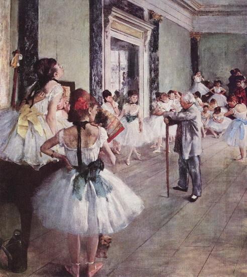 Репетиция балета, Дега, 1875