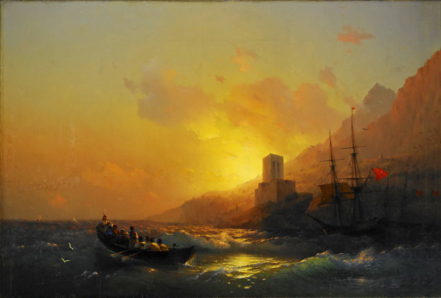 Хождение по водам, Айвазовский, описание картины
