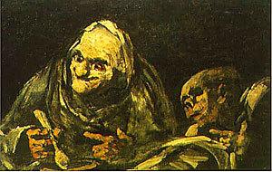 Сатурн, пожирающий своего сына, Франсиско де Гойя - описание картины