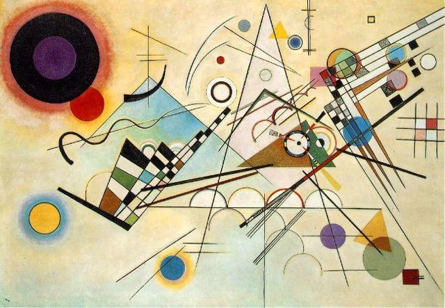 Квадраты с концентрическими кругами, Кандинский, 1913