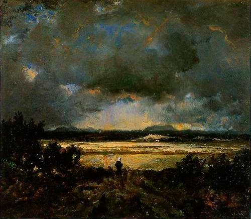 Дубы в лесу Фонтенбло, Теодор Руссо, 1855