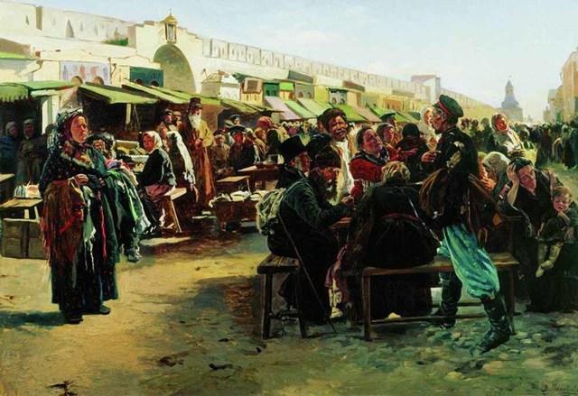 «Крестьянские дети», Владимир Маковский — описание картины